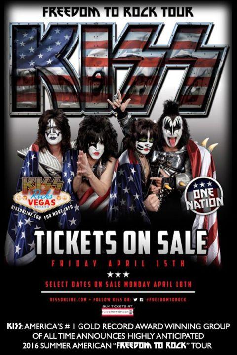 Tour - KISS - Freedom To Rock - 2016