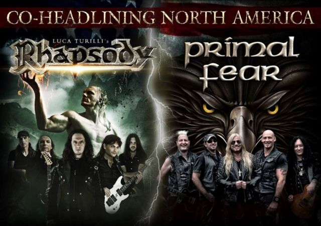 Tour - Rhapsody and Primal Fear - Spring 2016