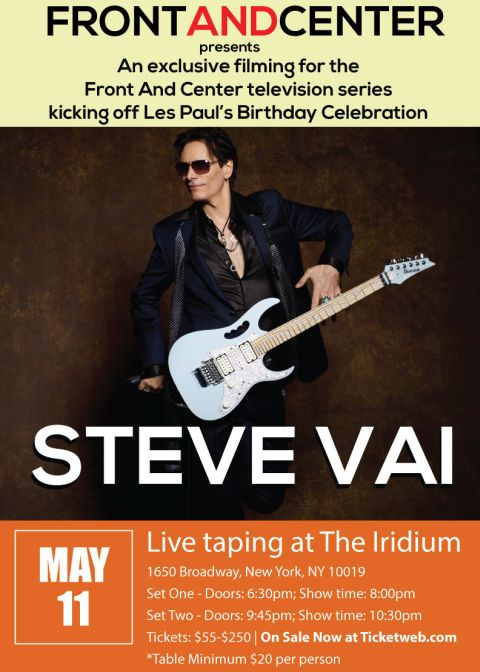 Poster - Steve Vai at Iridium - 2016