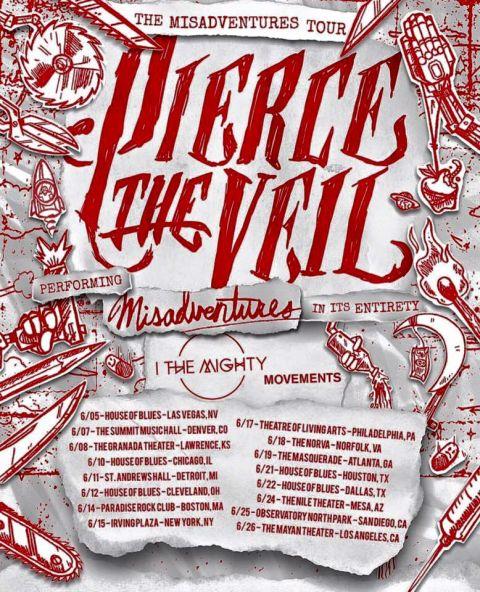 Tour - Pierce The Veil - Misadventures Tour 2016
