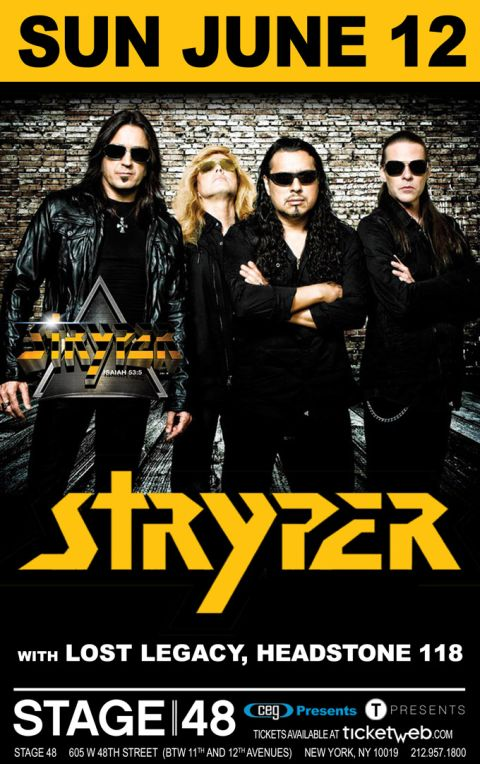 Poster - Stryper at Stage 48 - 2016