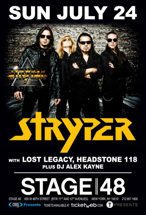 Poster - Stryper at Stage 48 - Reschedule 716