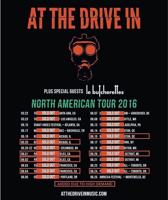 Tour - At The Drive-In - 2016