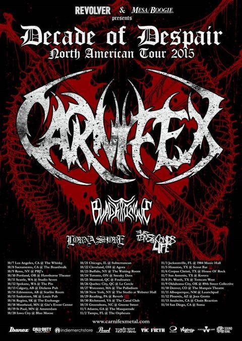 Tour - Carnifex - 2015