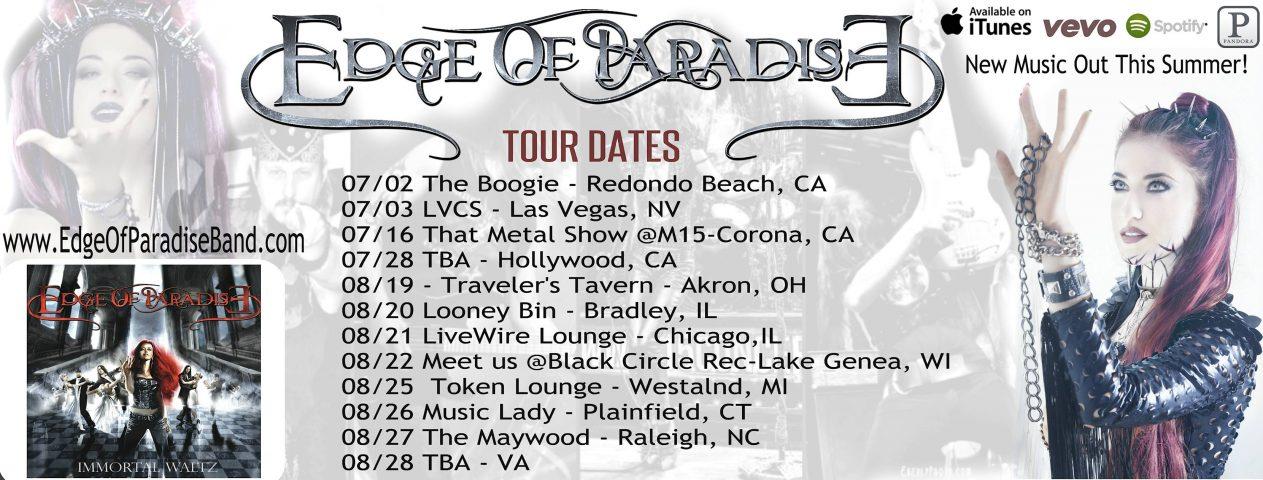 Tour - Edge Of Paradise - Summer 2016