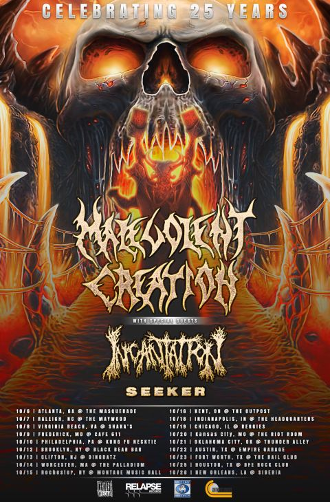 Tour - Malevolent Creation - US Tour 2016