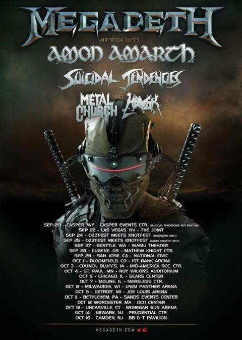 Tour - Megadeth - Fall Dystopia Tour - 2016