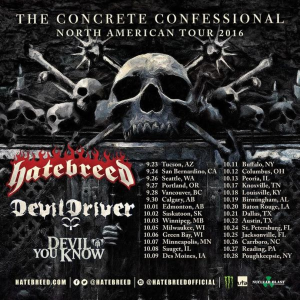 Tour - Hatebreed - Fall 2016