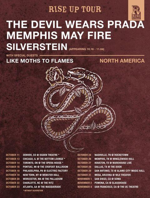 Tour - The Devil Wears Prada - Rise Up Tour 2016