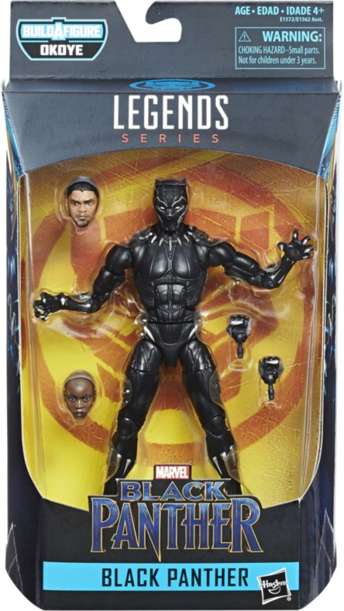 hasbro, marvel legends series, action figures, black panther, build-a-figure