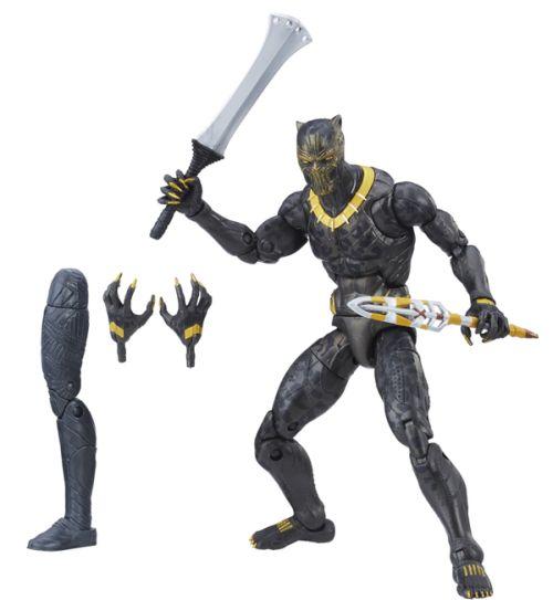 hasbro, marvel legends series, action figures, black panther, build-a-figure