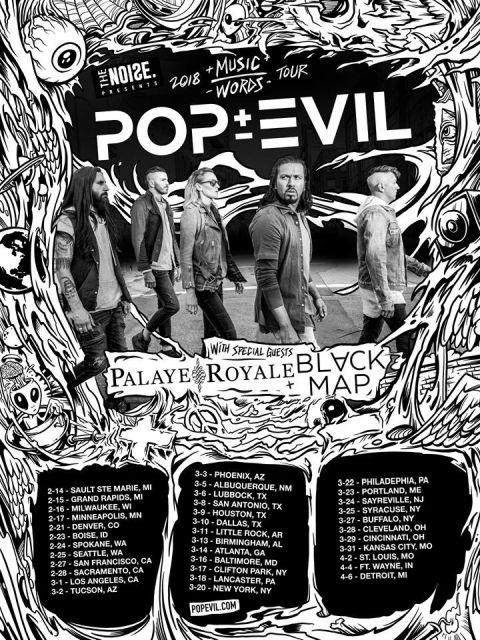 pop evil, pop evil tour posters, tour posters